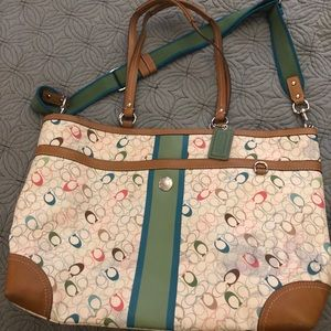 Coach Tote/Diaper Bag Good Used Condition